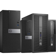 Core i5 Computer 6th Gen Dell HP Choose RAM& SSD Fast Windows 10 Builtin WiFi CR