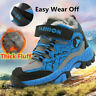 Plus Size Kids Boys Winter Waterproof Snow Boots Outdoor Sneakers Hiking Shoes