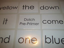 40 Laminated Jumbo Size Dolch Pre Primer sight word flashcards. 5.12 x 3.87 inch