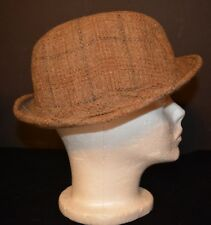 Vtg Men's Botony 500 Wool Plaid Tweed Fedora Hat Medium Nm Tom Landry