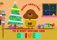 personalised Christmas card Hey Dugee  Any name/relation