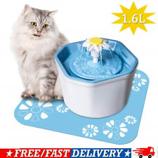 Pet Water Fountain Electric Water Dispenser For Cat Dog Automatic Three Modes Us