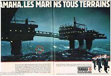 PUBLICITE ADVERTISING 105  1983  YAMAHA   moteurs bateaux hors bord  (2p)