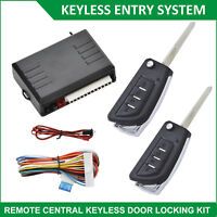 Universal Car Keyless Entry System Auto Remote Central Control Lock Locking Kit