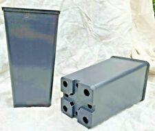 VASI PLASTICA QUADRATI cm 11,5 x 11,5 x 21,5 * L 1,80 -  ITALIA 10 VASI