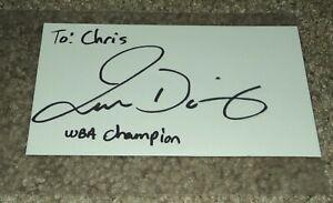 Juan Diaz Boxing autograph Baby Bull signature