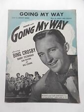 1944 Going My Way Johnny Burke Van Heusen Bing Crosby Fitzgerald Sheet Music