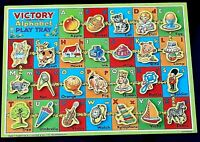 VICTORY ALPHABET PLAY TRAY PLYWOOD ALPHABET PUZZLE In Box complete Vintage rare