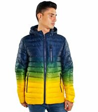 Giubbotto Piumino 200 grammi con cappuccio multicolor sfumato da uomo rif. JK565