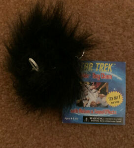 Star Trek Black Tribble Keychain Pull String With Motion and Sounds 3 Inch