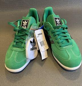 Retro Adidas Samba Originals Green Suede Trainers Sneakers 2010 Mens 6.5 NOS