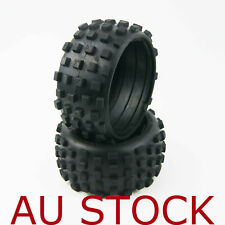 tyre tires REAR KNOBBY TYRES set FIT HPI KM 5T 5B BAJA 1/5 2 PCS Au stock