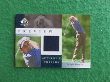 2001 Sergio Garcia SP Authentic Threads Rare Rookie RC Preview Patch MINT