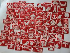 95 piece -  Sample Pack of Glitter Tattoo Stencils