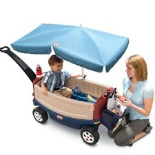 Little Tikes Deluxe Ride & Relax Wagon with Umbrella Toddlers Outdoor Child New