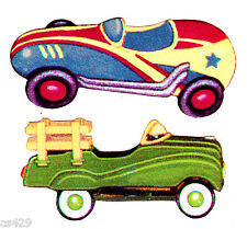 """3"""" KIDSLINE ANTIQUE TOY BOYS CAR TRACTOR  NURSERY PREPASTED WALL BORDER CUT OUT"""