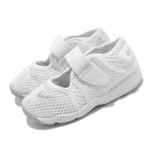 Nike Little Rift TD Boys White Grey Toddler Infant Casual Strap Shoes 317415-111