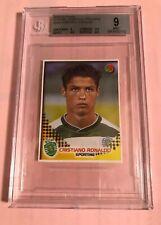 2002-03 Panini Cristiano Ronaldo Rookie Sticker BGS 9
