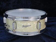 Rogers Luxor Model 5 x 14 Concert Snare Drum Ser#4927 White Marine Pearl