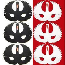 6 Foam Swan Masks - 3 White & 3 Black Swans - Childrens Animal Fancy Dress Masks