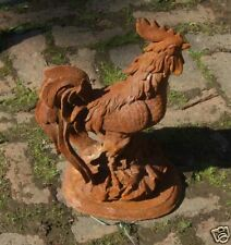 Cast Iron Crowing Cockerel Statue/Cock/Chicken/Garden Ornament/Furniture