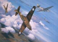 """""""Christmas Over Rangoon"""" Roy Grinnell Print co-signed by Five Flying Tiger Aces"""