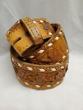 """University of North Texas UNT Screaming Eagles Brown Leather Belt Size 32/"""""""