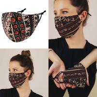 Stoffmaske Gesichtsmaske Mundnasenmaske Behelfsmaske Maske Indien Boho Baumwolle
