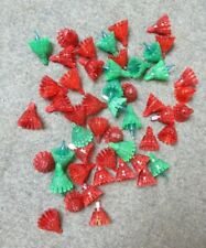 New Listing50 -Vintage Plastic Christmas Light Covers Red & Green