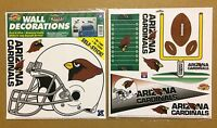 Arizona Cardinals NFL Football self-stick WALL DECORATIONS by Color Clings
