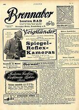 Voigtländer Spiegel-Reflex-Kameras Reklame Ad 1907