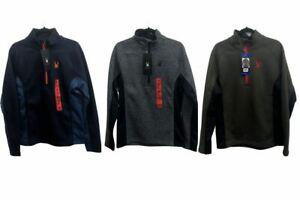 NEW!!! Spyder Men's Half-Zip Outbound Stryke Sweater Jacket Size & Color VARIETY
