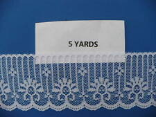5 YARDS 1 3/4 IN. WHITE POLY SCALLOPED LACE