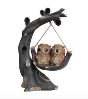 OWL COUPLE ARBRE MORT SWING DESIGN MARBLE ORNAMENT_HOME DECORATION_WEALTH SYMBOL