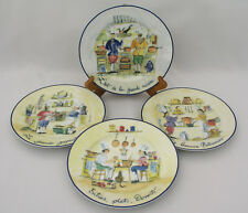 "(4) WILLIAMS SONOMA - FRENCH CHEFS - 7 3/4"" SALAD PLATES - EXCELLENT CONDITION"
