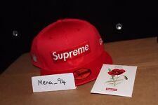 LOGO del parallelepipedo Mesh Supreme NUOVO Era (Rosso) Taglia 7 5/8 + un adesivo + SEMI DI PAPAVERO + sacchetto di negozio