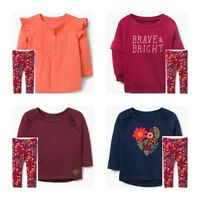 Gymboree Girls Floral Leggings Brave & Bright Sweatshirt Tee Top Size 2T NWT