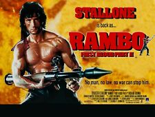 """RAMBO FIRST BLOOD PART 2 II repro UK quad film poster 30x40"""" Sylvester Stallone"""
