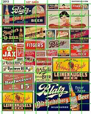 2013 DAVE'S DECALS HO VINTAGE BEER SIGNS BLATZ JAX FITGERS POINT and MORE