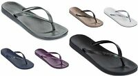 Ipanema Beach Womens Flip Flops Grey, Navy, Plum, Black, Rose Gold/Brown. White