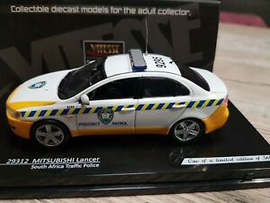 MITSUBISHI LANCER POLICE AFRIQUE DU SUD GENDARMERIE  ECHELLE 1/43 VITESSE