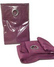 "Grommet Top Solid Curtain-  Panel PAIR - 63"" Purple"