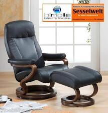 Himolla Sessel Relaxsessel 9695 Leder schwarz Zerostress Mod. 33C + 01A NEU
