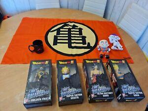 """Dragon Ball Z Collectors Bundle 12"""" Figures, Plush Toys, Flag & Mug Bundle"""