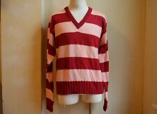 DOLCE&GABBANA D&G RUNWAY STRIPED RED PINK MOHAIR BLEND SWEATER S 3XL 58 PULLOVER