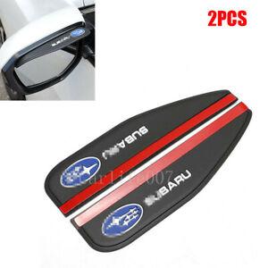 2PCS Car Rear View Side Mirror Rain Visor Board Eyebrow Smoke Guard for Subaru