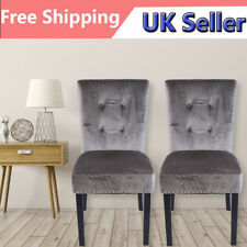 2Velour Armchair Velvet Accent Chair Dining Living Room Lounge Antique Wing Back