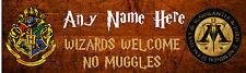 HARRY POTTER Bedroom Door Sign, PERSONALISED Gift, Childrens Play Room, Hogwarts