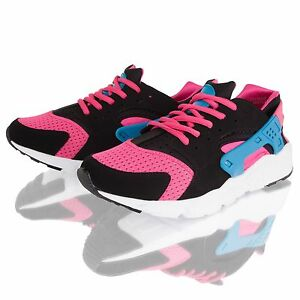 Womens Ladies Running Sports Trainers Gym Fitness Fashion Shoes Size 4
