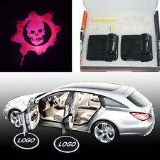 Skull Gear of war Magnetic car door LED projector welcome logo shadow light lamp